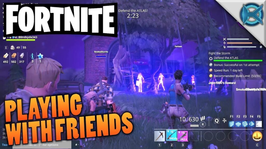 How to play Fortnite with friends
